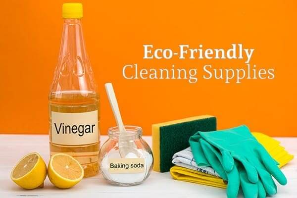 Green, Eco-Friendly Cleaning Supplies