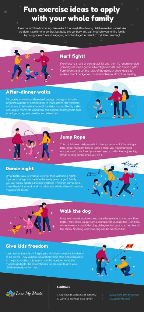 Love My Maids - Fun exercise ideas to apply with your whole family