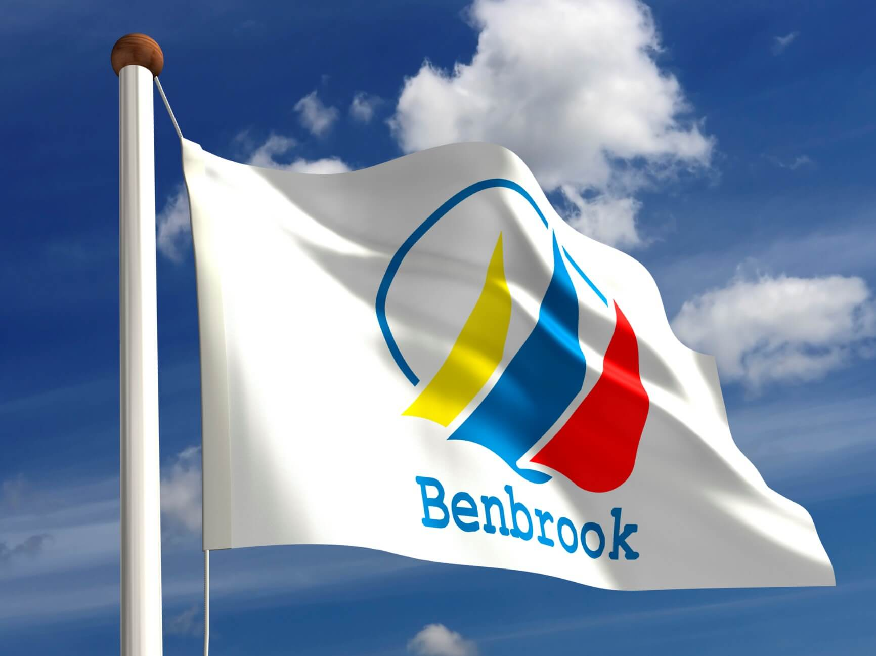 Benbrook City flag (isolated with clipping path)