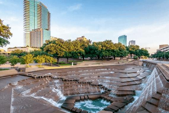 Fort Worth TX Water Gardens